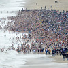 Aerial photo of the 2012 Polar Bear Plunge at Rehoboth Beach (courtesy of Joe Gawinski)