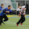 William Penn's #85 Sam Hensley runs with the ball in their game against Caesar Rodney at the DIAA/Special Olympics Delaware Unified flag football game at the University of Delaware.