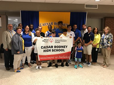 2018 Unified Champion School Banner Recognition