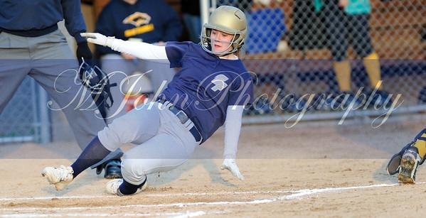 Maggie sliding in to score
