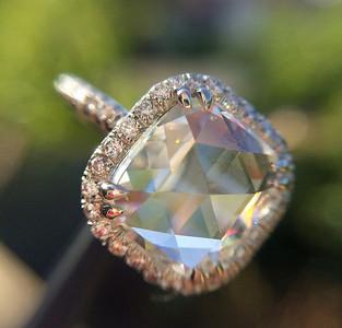 2.50ct Cushion-shaped Rose Cut Diamond GIA H SI1 RCD