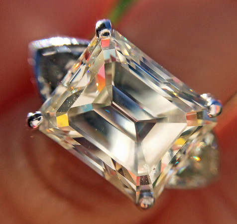 5.80ct Vintage Emerald Cut Diamond Ring