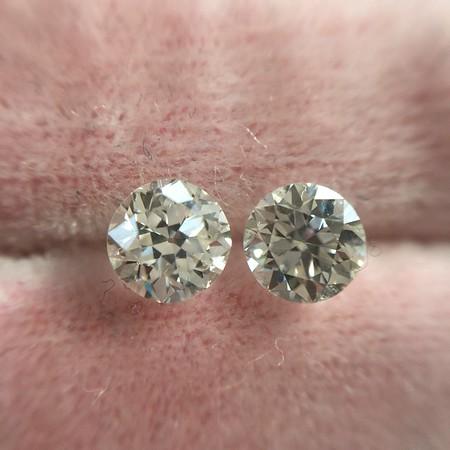 1.02ctw OEuropean Cut Diamond Pair