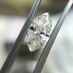 1.11ct Antique Marquise Cut Diamond  AGS K, SI1 AMC