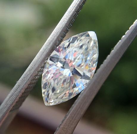 1.11ct Antique Marquise Cut Diamond, AGS K, SI1