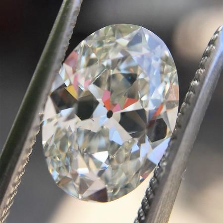 1.66ct Vintage Oval Cut Diamond GIA PENDING