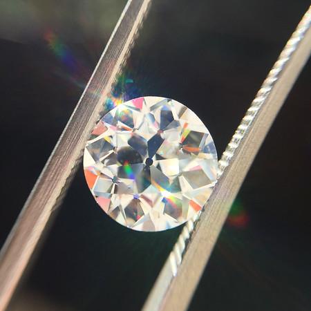 1.96ct Old European Cut Diamond, GIA H VS2