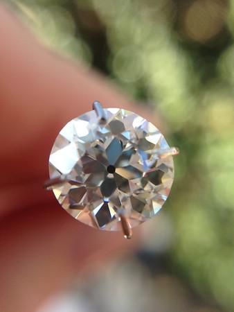 2.11ct Old European Cut Diamond EGL J VS1 OEC