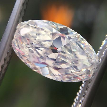 2.12ct Antique Moval Cut Diamond