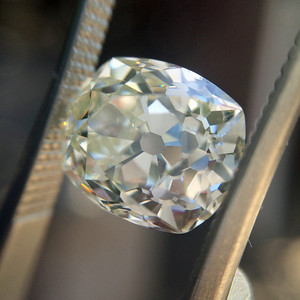 3.08ct Antique Cushion Cut Diamond AGS L, SI1 ACC