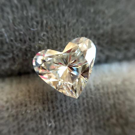 .53ct Heart Shape Diamond, EGL H VS2