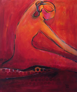 SOLD La danseuse 24 X30 Acrylic