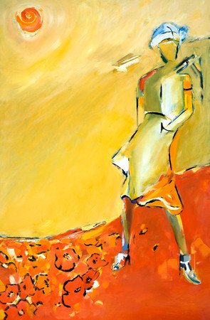 SOLD La  parisienne 24 X36 Oil