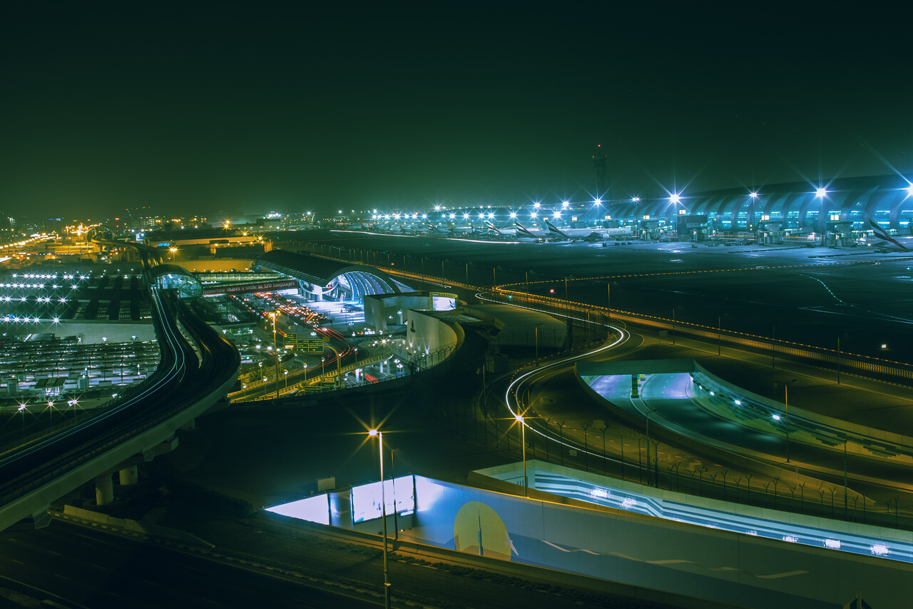 Panoramic view Terminal 3 at Dubai International Airport, commissioned by MBLM-Dubai