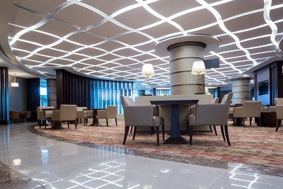 First Class lounge at Dubai Airport. Commissioned by MBLM-Dubai