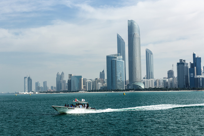 Abu Dhabi skyline, commissioned by Taqa Energy Company. Abu Dhabi