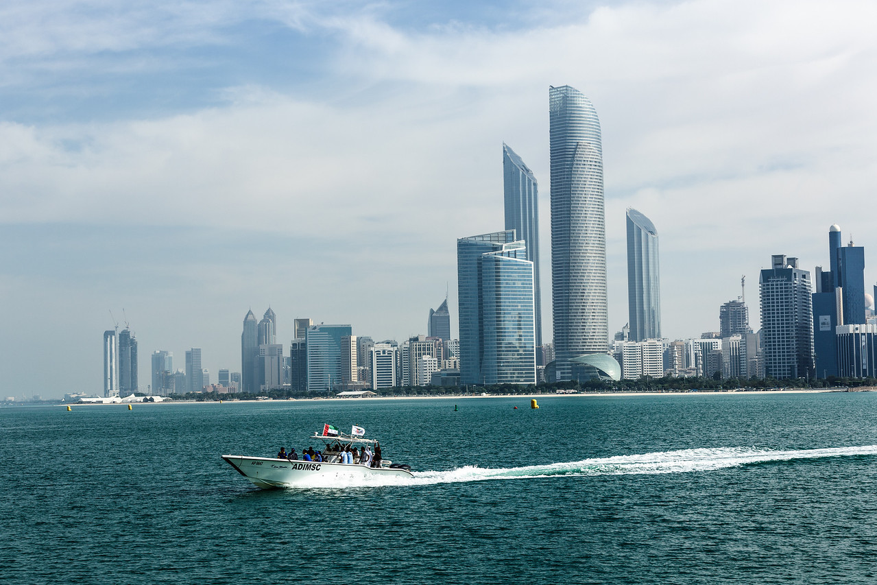 Abu Dhabi skyline, commissioned by Taqa Energy Company. Abu Dhabi