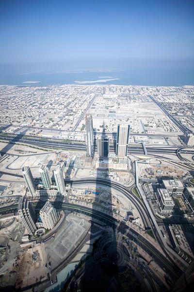 Burj Khalifa shadow