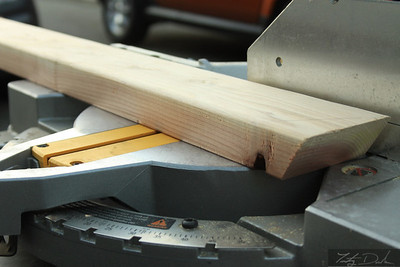 A miter saw is very useful.