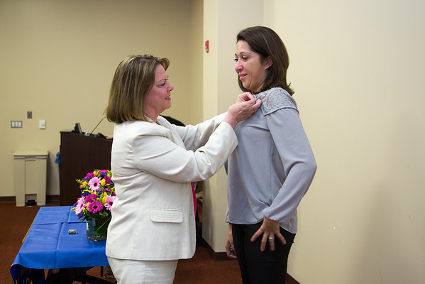 Holy Name Medical Center School of Nursing presented their LPN Pinning Ceremony at Holy Name Medical Center in Teaneck, NJ on April 20, 2016.  Photo by Victoria Matthews/Holy Name Medical Center