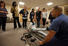 "20120409 Emergency Drill 2012 at the School of Nursing (SON) at Holy Name Medical Center in Teaneck, NJ. During this exercise the students were informed that there was a ""pepper spray incident"" at the mall, which caused a stampede. 4/9/12  Photo by Jeff Rhode/Holy Name Medical Center"