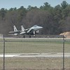 Last Four F-15s taking off with fades, each stabilized at 50