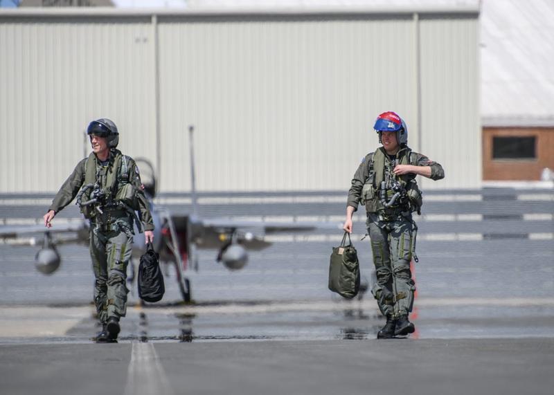 4-25-19   Lt Col Tim 'Donor' Woods & Captain Bernard 'Chingo' Csabai, 425th TFS pilots