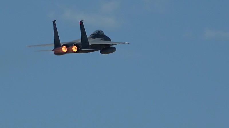 C0048   two F-15 Eagles
