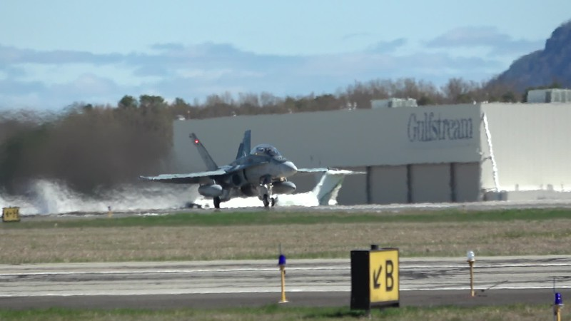 C0049   two F-18 Hornets