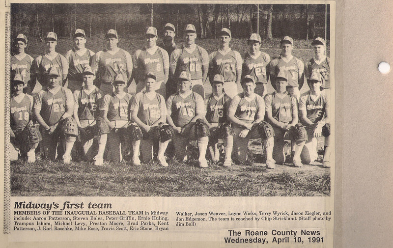 MHS First Baseball Team - 1991