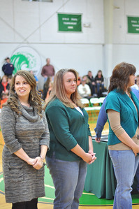 (L to R) Laura Roberts, Christie Clifton Elmore, and Karon Patterson Willoughby during ceremony.