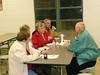 James & Gail Parks, Melba Levy, Joyce & Boyd Woody reminiscing and enjoying food!!