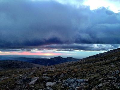 Sunrise over the Front Range