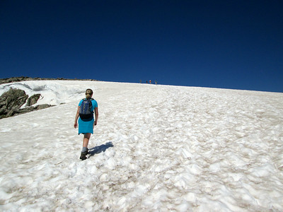 Snowfield below Flattop