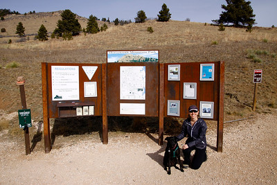 At the Horsetooth Mountain Open Space trailhead