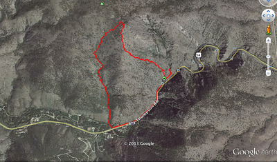 track of hike from my forerunner