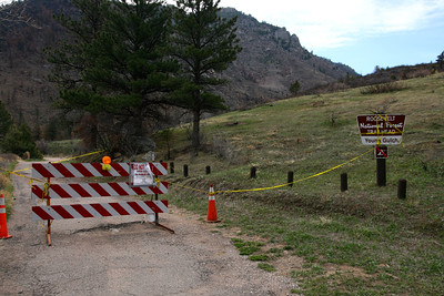 Young's Gulch TH may be closed for another season by the looks of this.