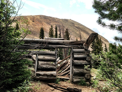 Miners cabin.  Needs repair
