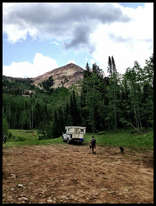 View of summit from the parking area / trailhead