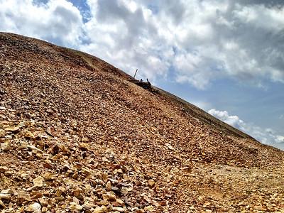 Old mine near summit