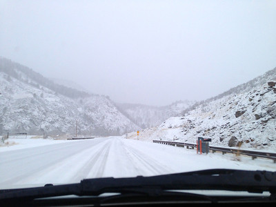 Just coming into the Poudre Canyon from the Front Range on Hwy 14