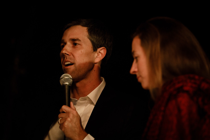 Beto O'Roarke and Amy Hoover Sanders