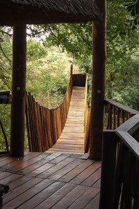 Idube Lodge suspension bridge to game hide