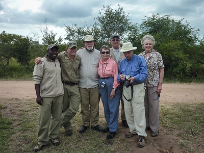 Mark, Craig, Ken, Gail, Bill, Don and Francine, our land rover buddies at Lukimbi