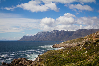 Looking across False Bay