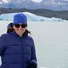 Smiling woman at Lake Argentino, Santa Cruz Province, Patagonia, Argentina