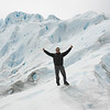 Man showing thumbs up on Perito Moreno Glacier, Los Glaciares National Park, Santa Cruz Province, Patagonia, Argentina