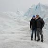 Couple on Perito Moreno Glacier, Los Glaciares National Park, Santa Cruz Province, Patagonia, Argentina
