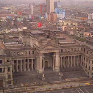 Aerial view of Cusco