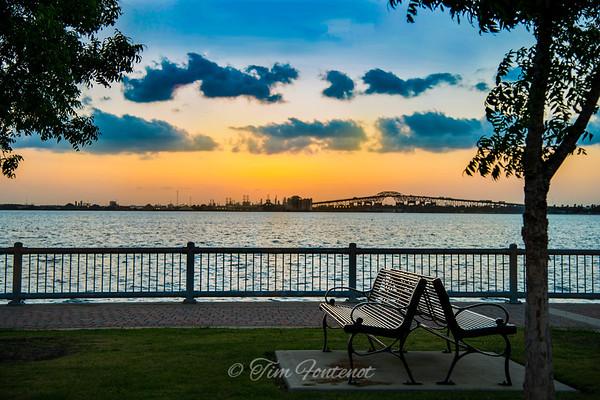Sunset over Lake Charles